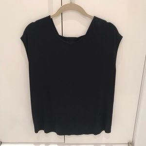 Mason Black Shirt with Open Detail in the Back
